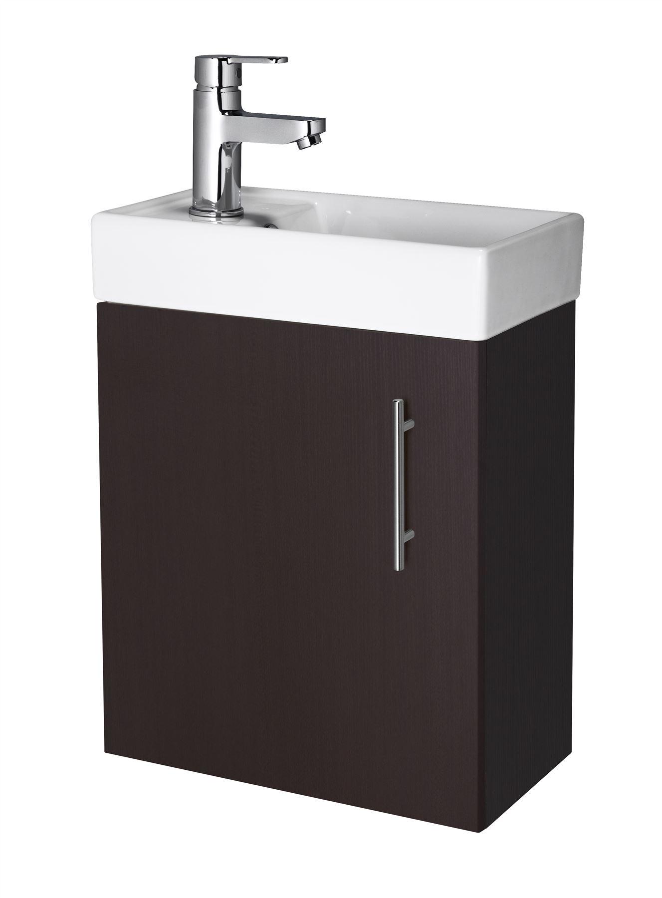 Compact 400mm Bathroom Cloakroom Vanity Unit Basin Sink Floor Wall Hung Ebay