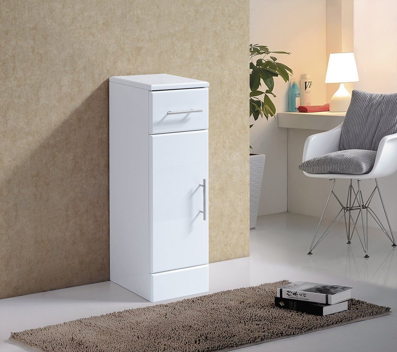 Bathroom storage drawers - 1 Door 1 Drawer 250 X 300mm Floor Standing Cupboard Vanity Unit Bathroom Storage