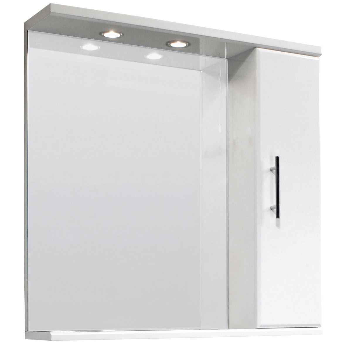 illuminated high gloss white bathroom mirror vanity cabinet inset