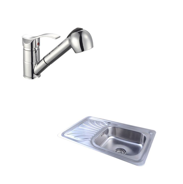 Easy-ES3013-1-0-Bowl-Stainless-Steel-Kitchen-Sink-Waste-Choice-of-Taps