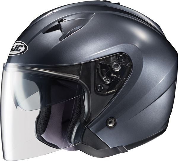 hjc is 33 3 4 open face helmet solid dot xs s m l xl 2xl. Black Bedroom Furniture Sets. Home Design Ideas