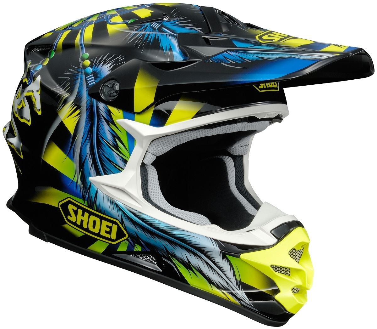 shoei vfx w grant 2 off road mx dirt bike helmet dot snell m2015 ebay. Black Bedroom Furniture Sets. Home Design Ideas