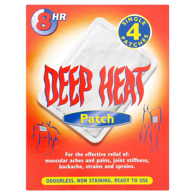 Deep Heat Patch 4 Single Patches.