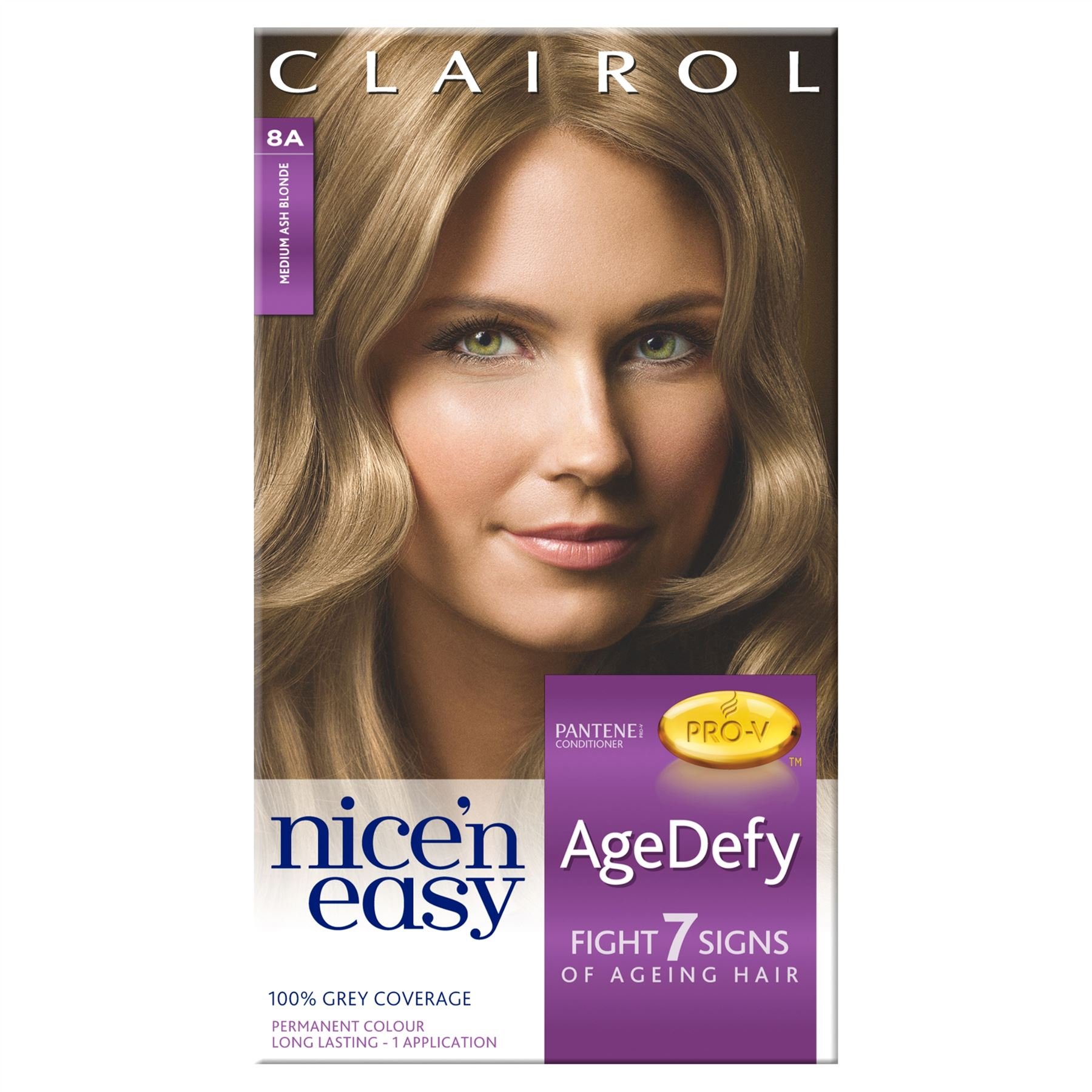 Clairol Nice N Easy Agedefy Permanent Colour 8a Medium Ash