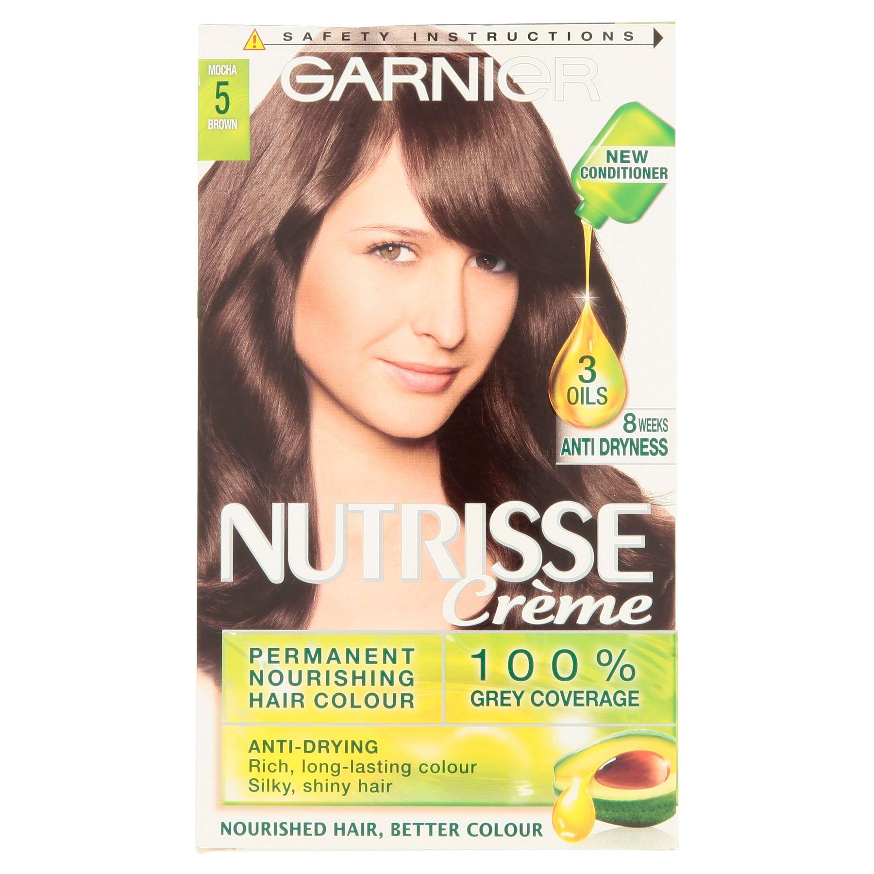 Garnier Nutrisse Creme 5 Mocha Brown Hair Colour Ebay Of