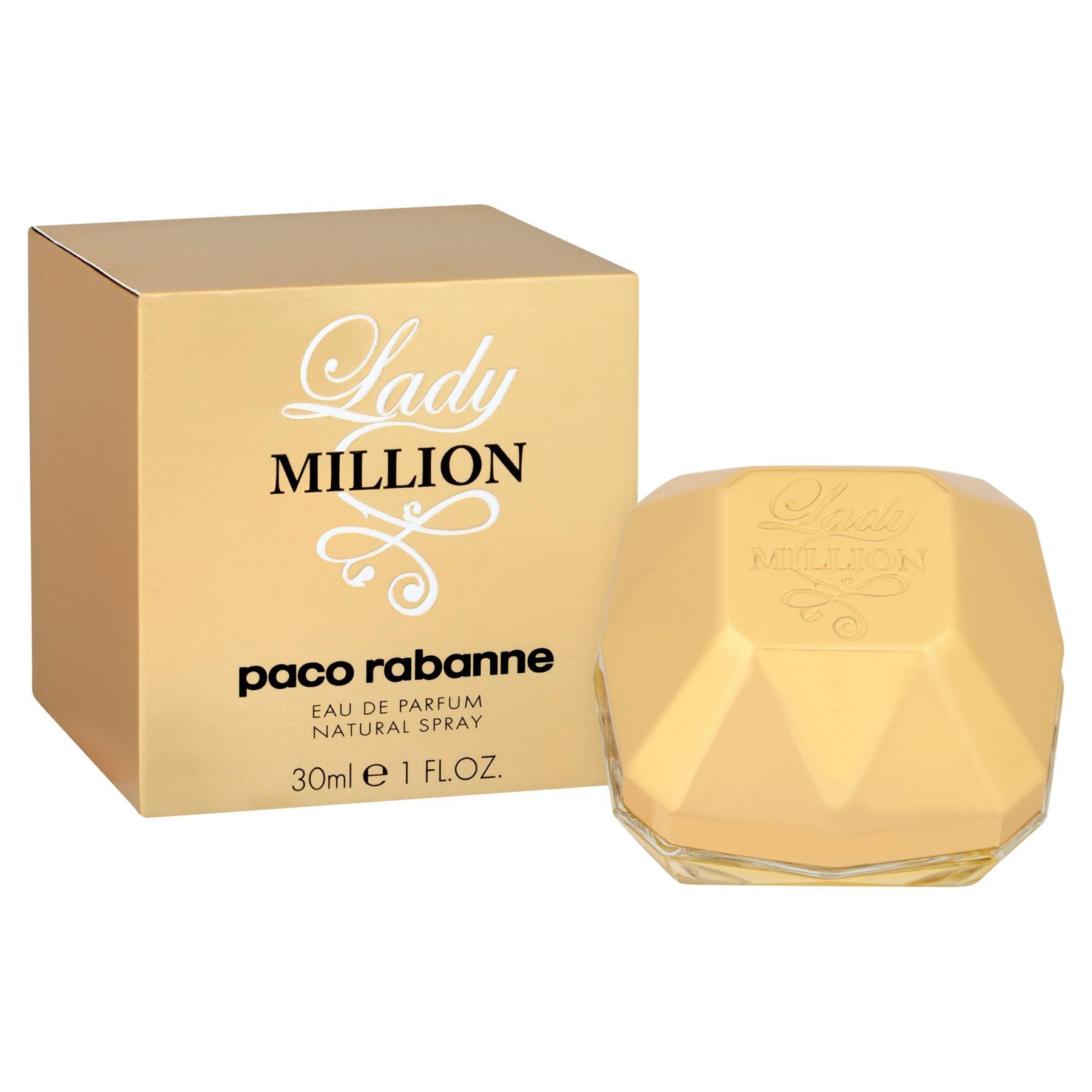 paco rabanne lady million eau de parfum natural spray 30ml. Black Bedroom Furniture Sets. Home Design Ideas