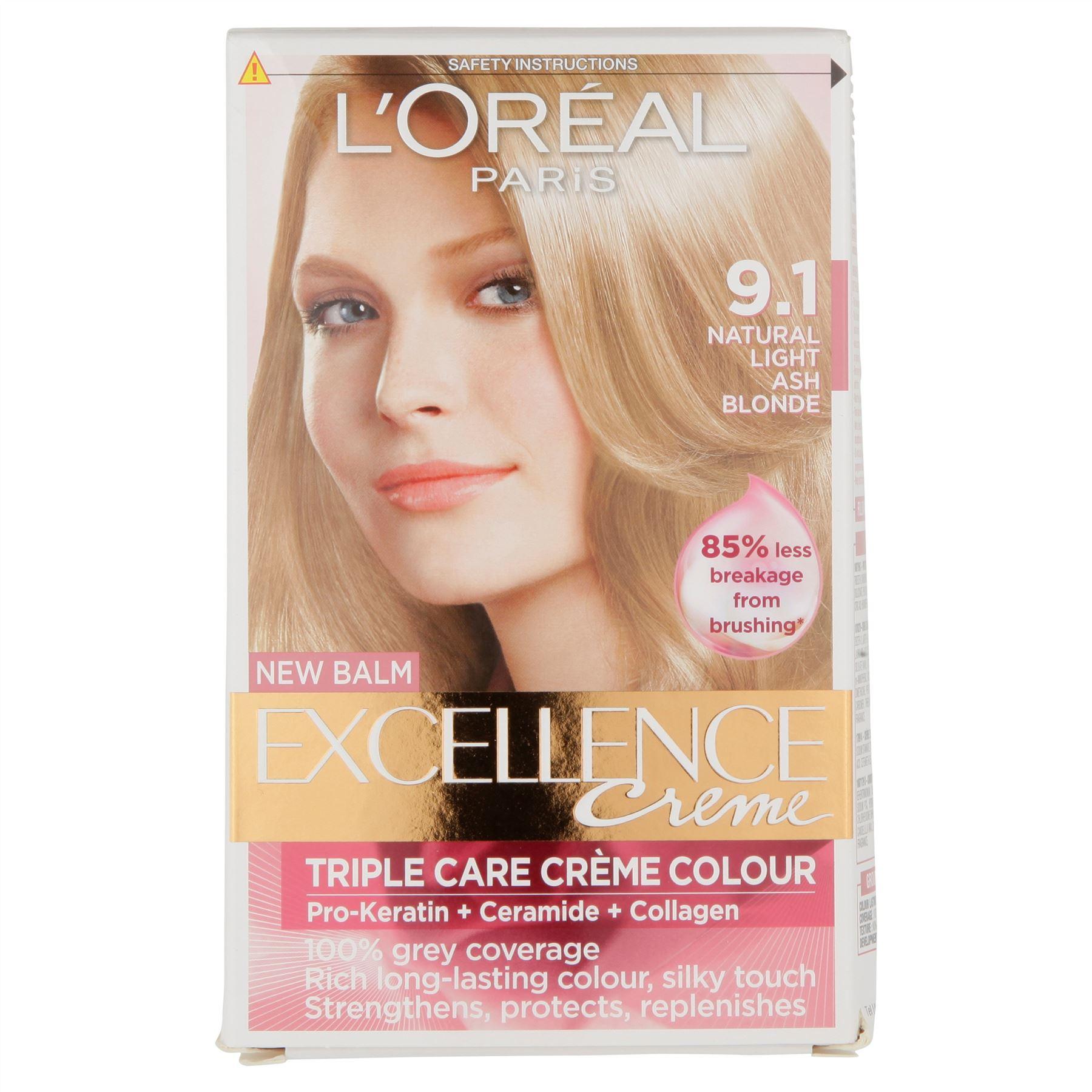 LOr al Excellence 91 Natural Light Ash Blonde