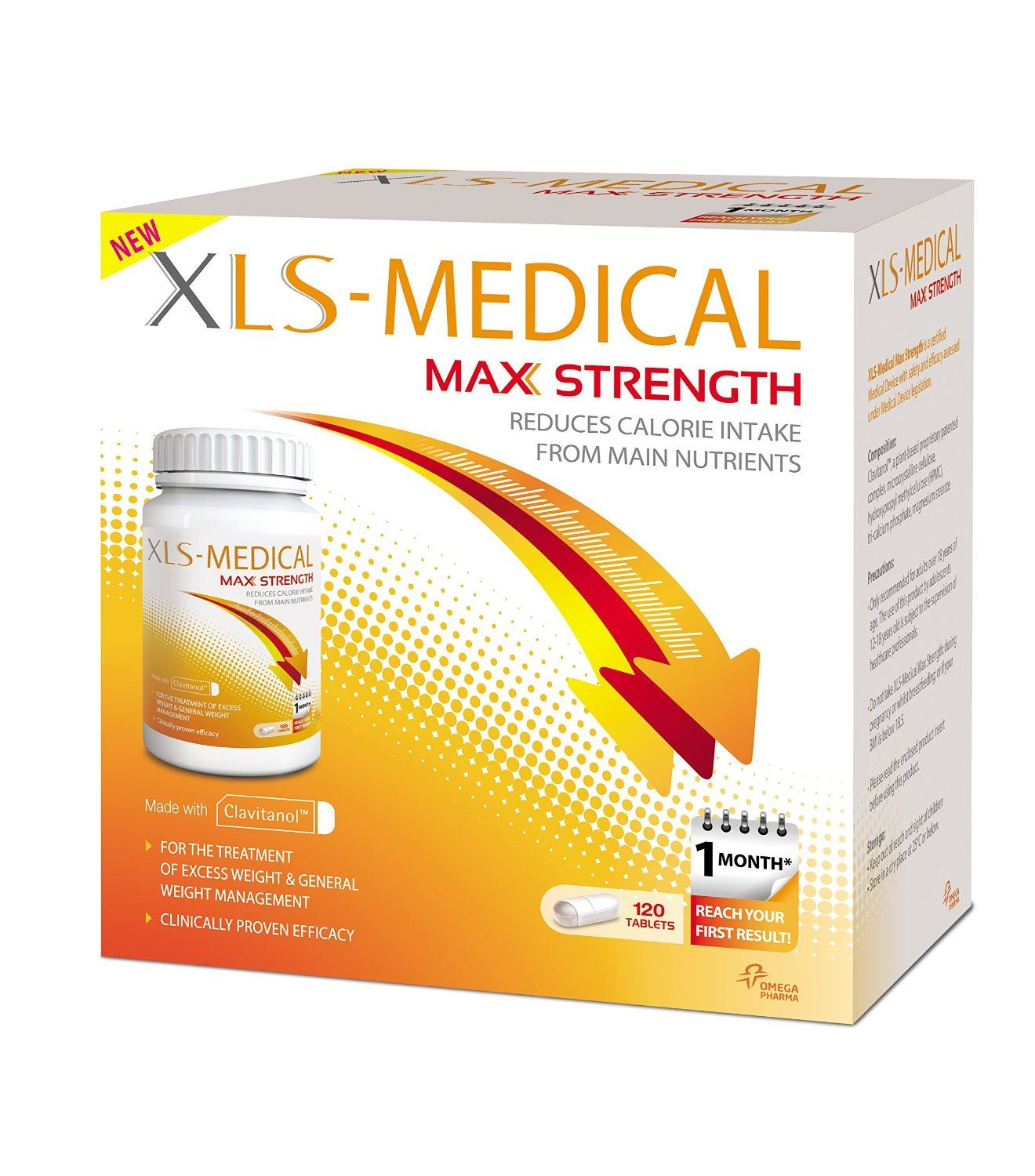 XLS Medical Max Strength Diet Pills for Weight Loss - Pack