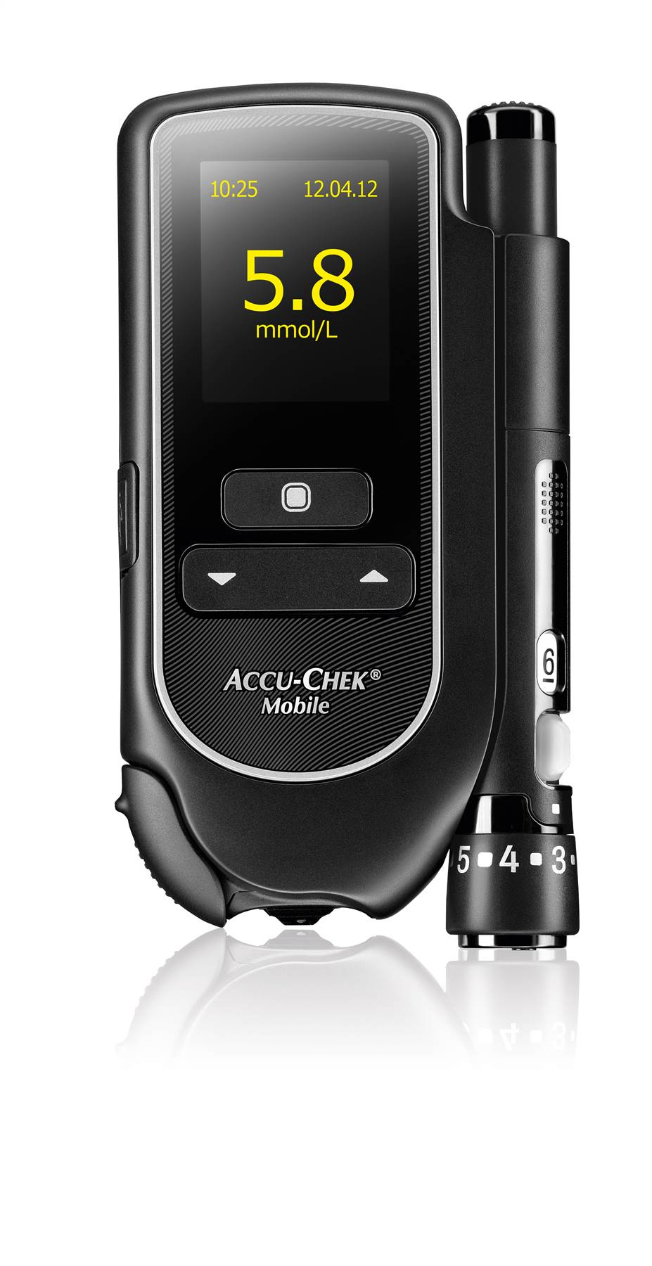 The Strip Free Accu Chek 174 Mobile Blood Glucose Meter