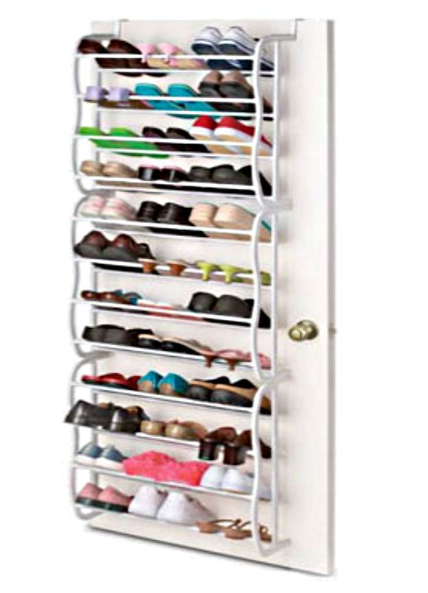 36 pair over the door hanging shelf shoe rack storage for Organiser un stand