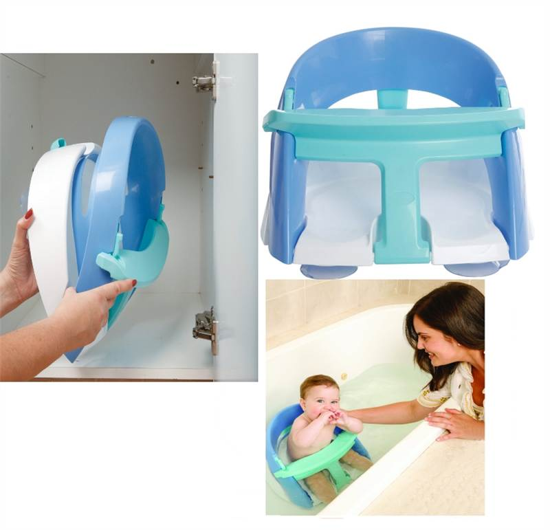 new dreambaby premium deluxe super comfy bath seat 6 to 24 months blue ebay. Black Bedroom Furniture Sets. Home Design Ideas