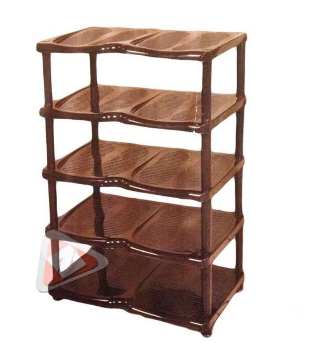 New 5 tier durable plastic shoes rack stand organiser for Organiser un stand
