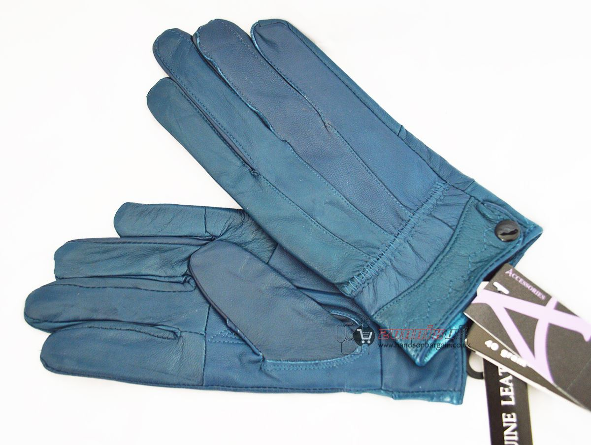 Ladies leather gloves with thinsulate - New Ladies Genuine Leather Gloves Stylish Thinsulate Thermal