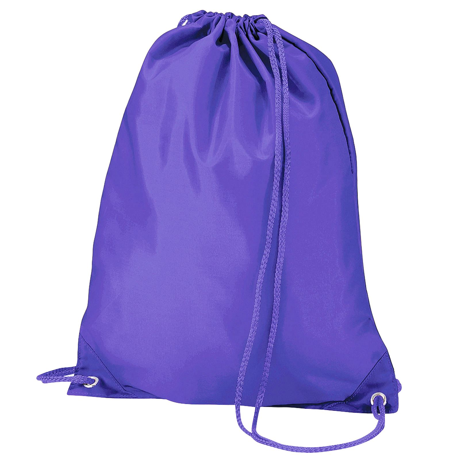 New Draw String Bags Plain Colours Stringy Gym Trainers Backpack ...