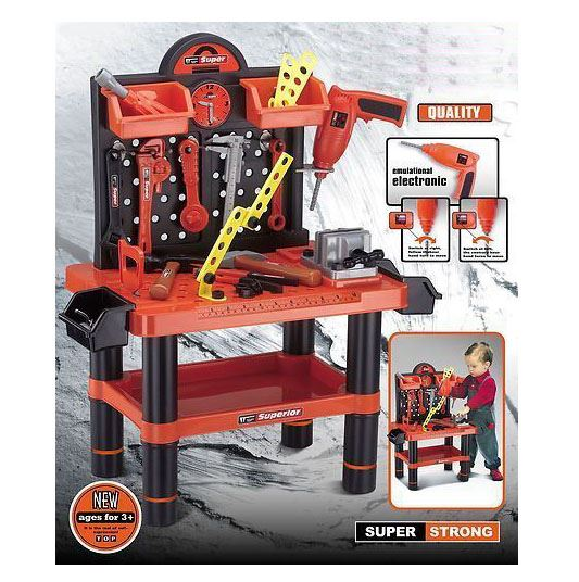 Toy Tool Sets For Boys : Children s pc tool bench play set work shop tools kit