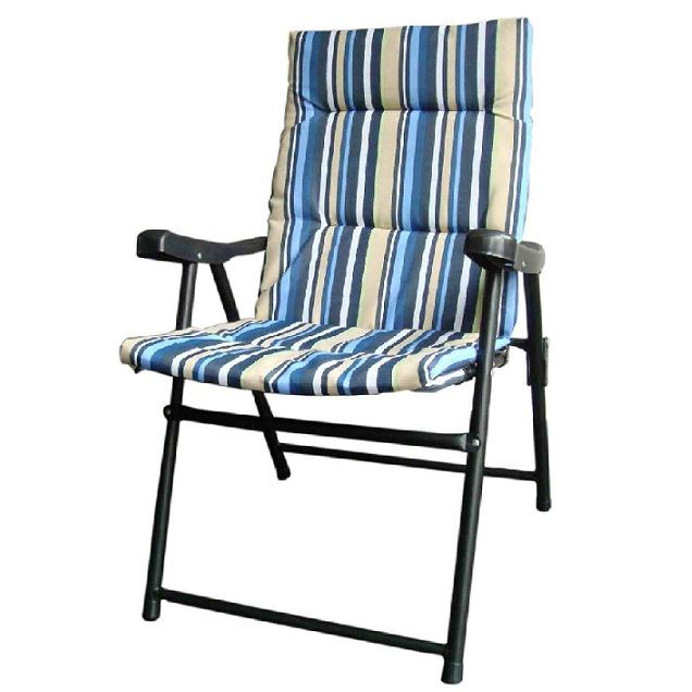 New Padded Folding Outdoor Garden Camping Picnic Chair Beach Patio Seat