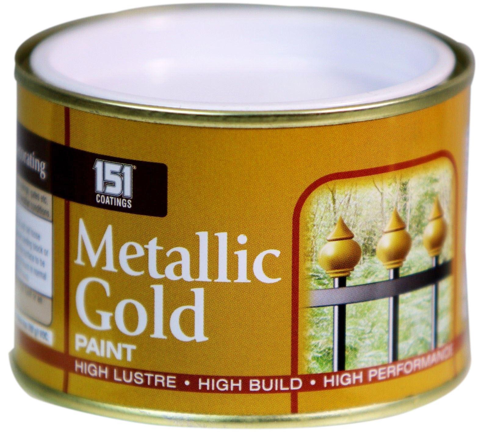 New 180ml metallic gold exterior interior paint tough durable metal wood - Exterior wood and metal paint set ...