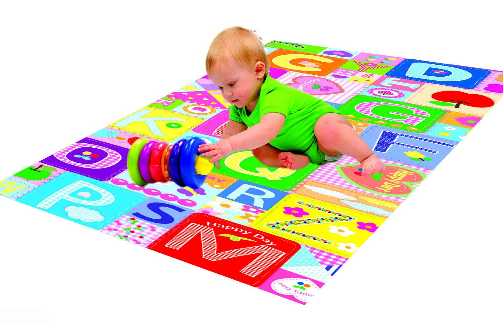 new foam padded play mat rug baby toddler children kid double  - newfoampaddedplaymatrugbabytoddler