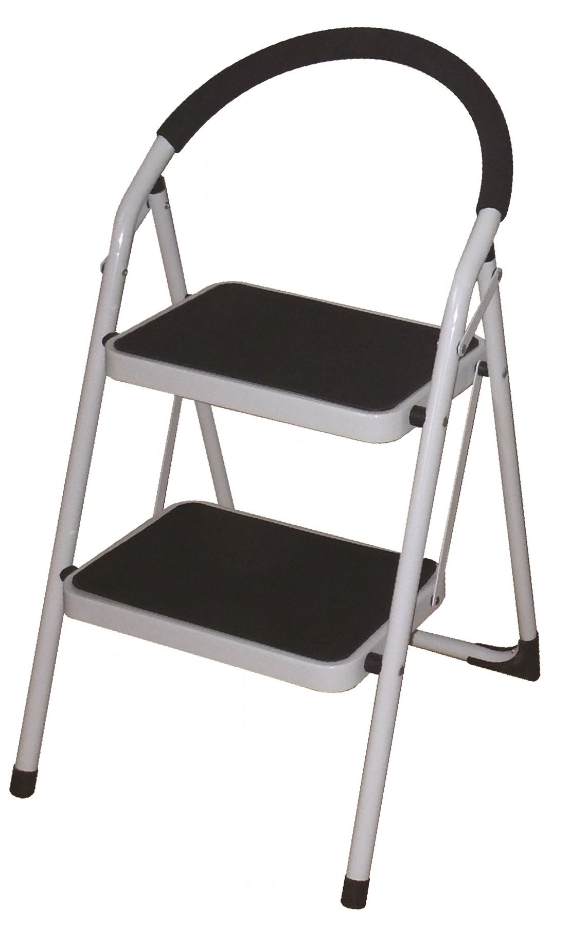 New Foldable 2 Amp 3 Steel Step Ladder Non Slip Plastic Tips