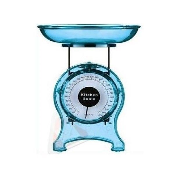 Blue Kitchen Scales: New 1kg Kitchen Analog Food Weighing Scales Blue