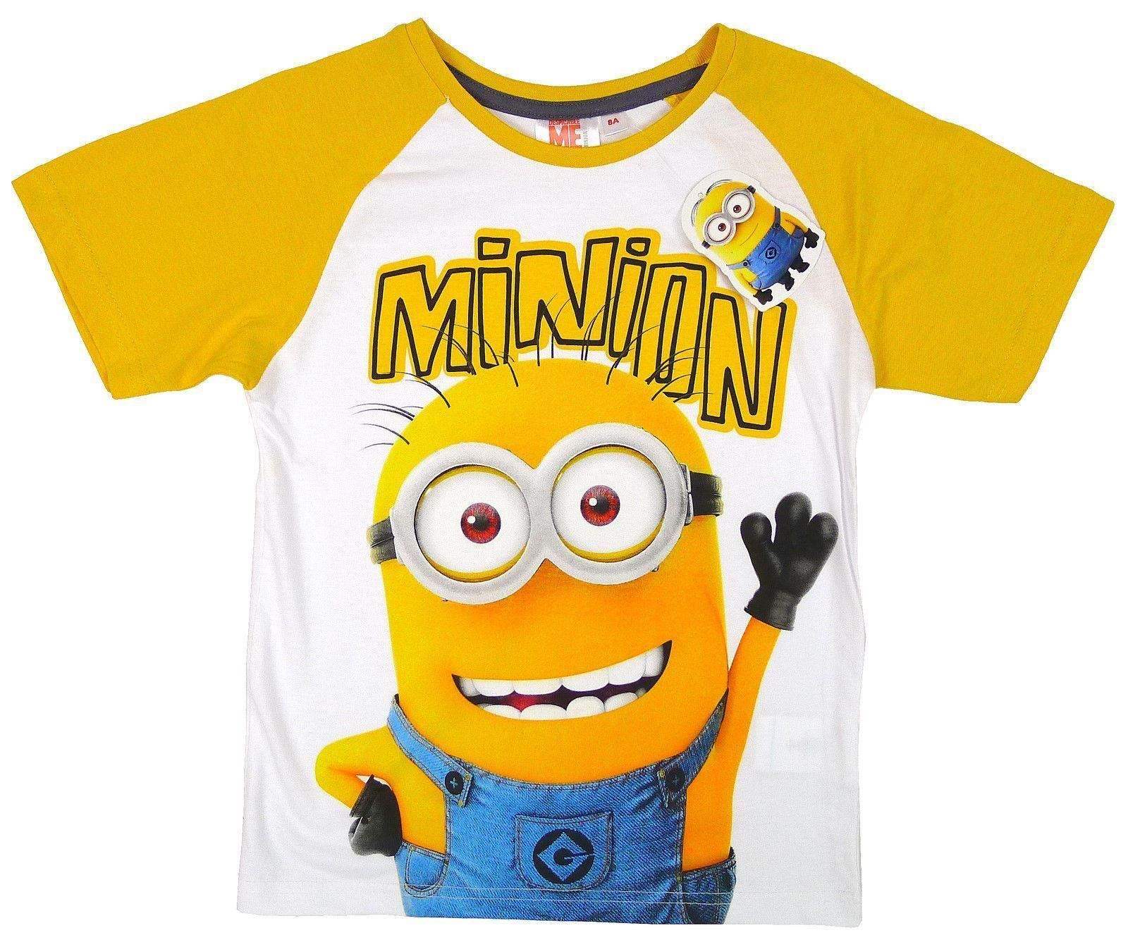 despicable me kids minions t shirt official top tee boys 3. Black Bedroom Furniture Sets. Home Design Ideas