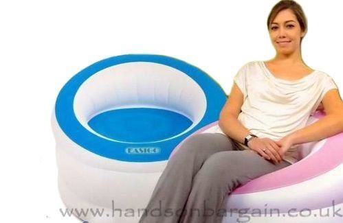 New Inflatable Single Flocked Armchair Gaming Sofa Seat Lounger Relaxing Chair