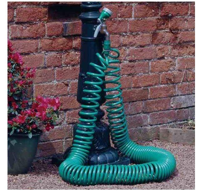 30 Meter Coil 30M Garden Hose Reel Pipe with 4 Dial Spray Gun Nozzle 100ft