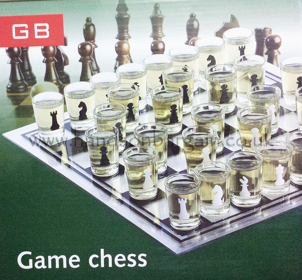New 32 Shot Glasses Drinking Game Board Chess Set Fun Stag