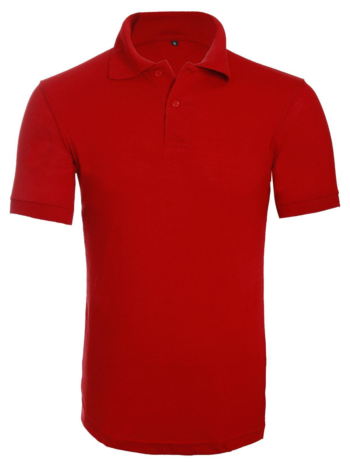 Unisex Womens Mens Plain Polo Casual Work Wear T Shirt