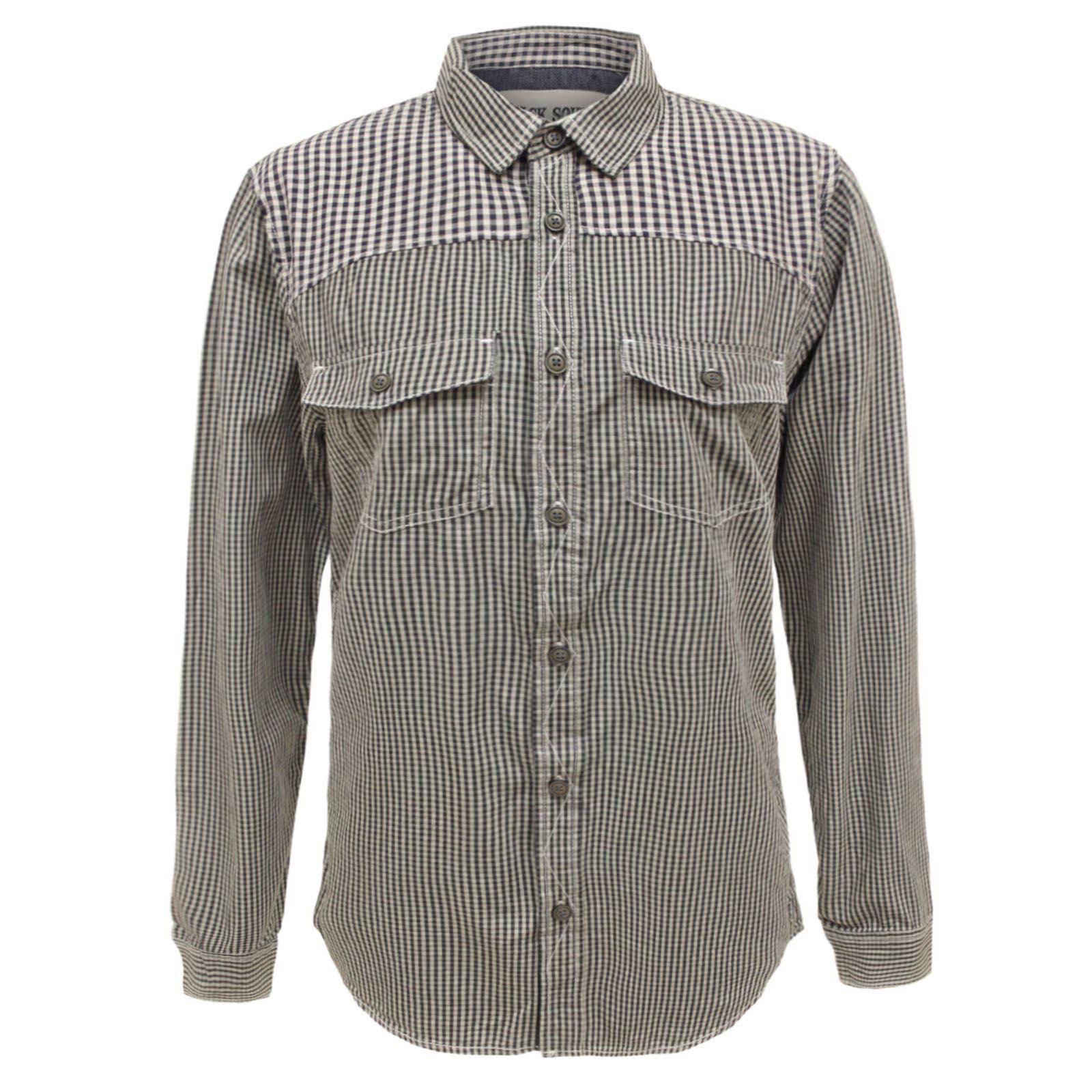 Mens Designer Casual Vintage Button Down Checked Plaid