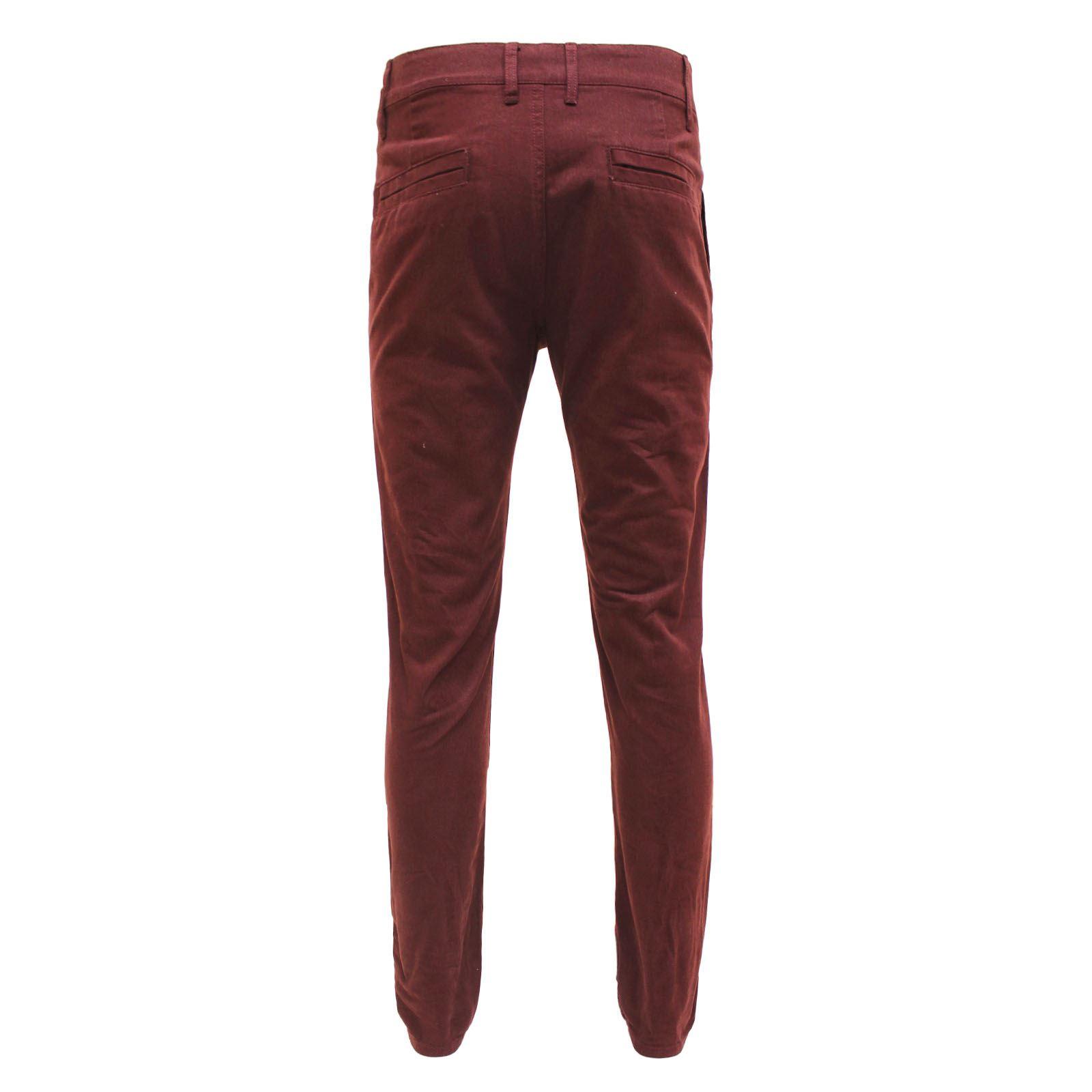 4092b32829 New Mens D-Struct Designer Regular Straight Leg Skinny Fit Chinos Jeans  Trousers