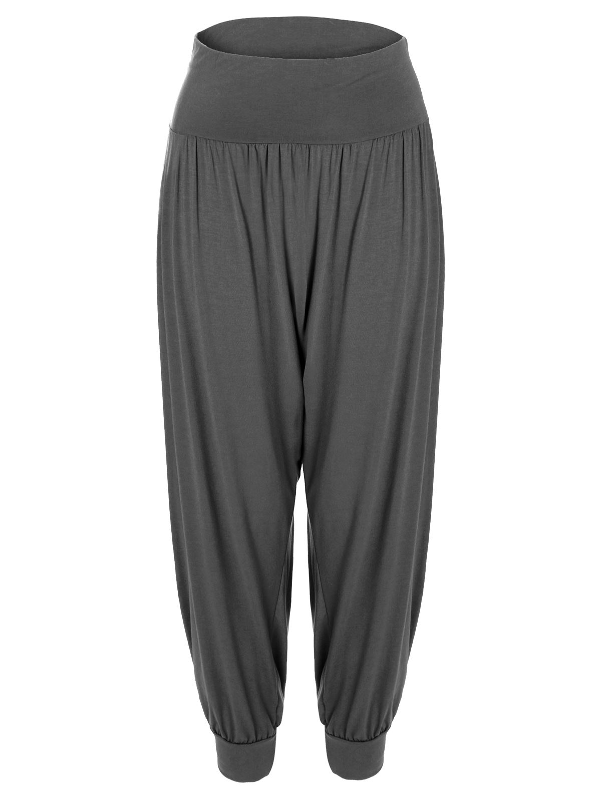 Original Gray Baggy Harem Pants Women Linen Trousers BonLife By BonLife