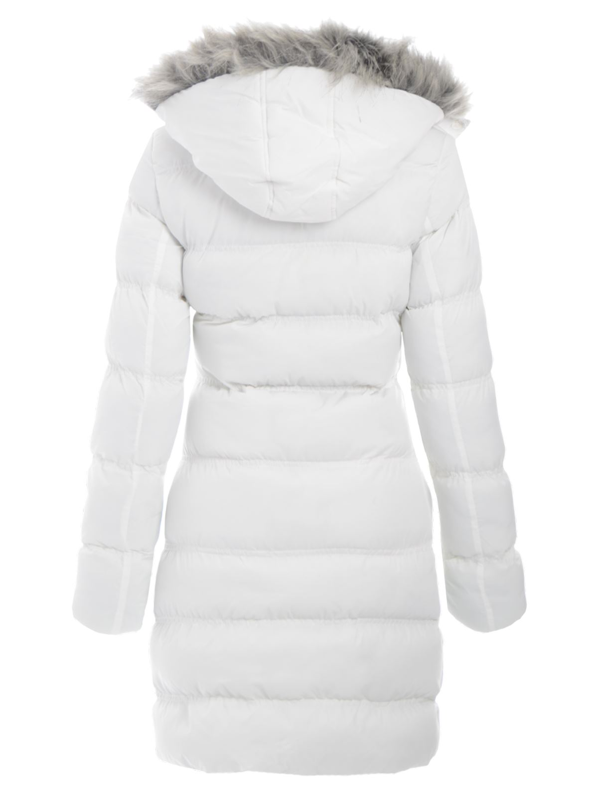 Women's parka coats with fur hood sale