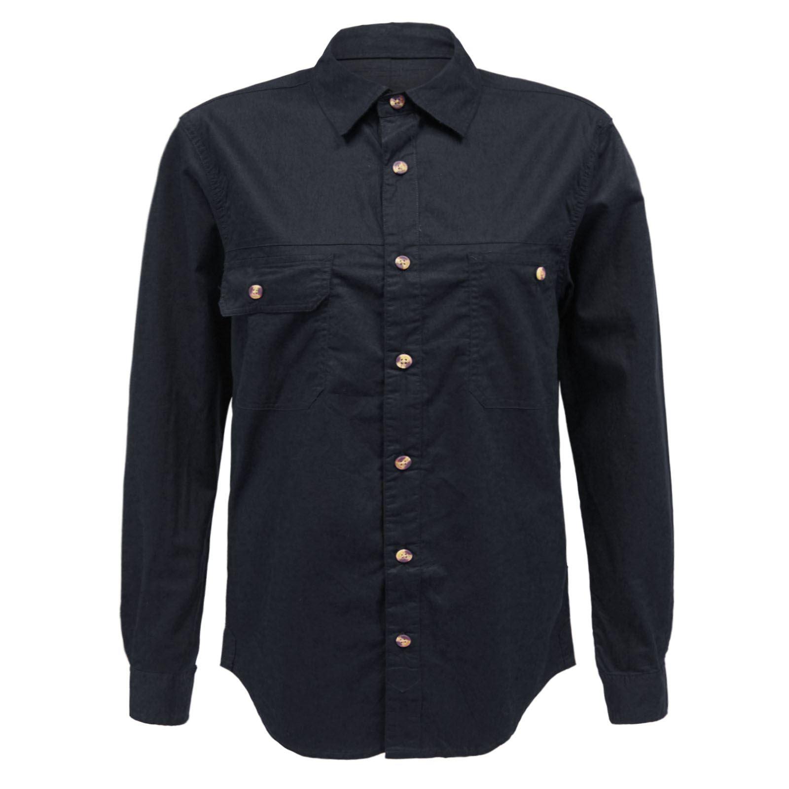 Mens Designer Long Sleeve Plain Button Down Casual Office
