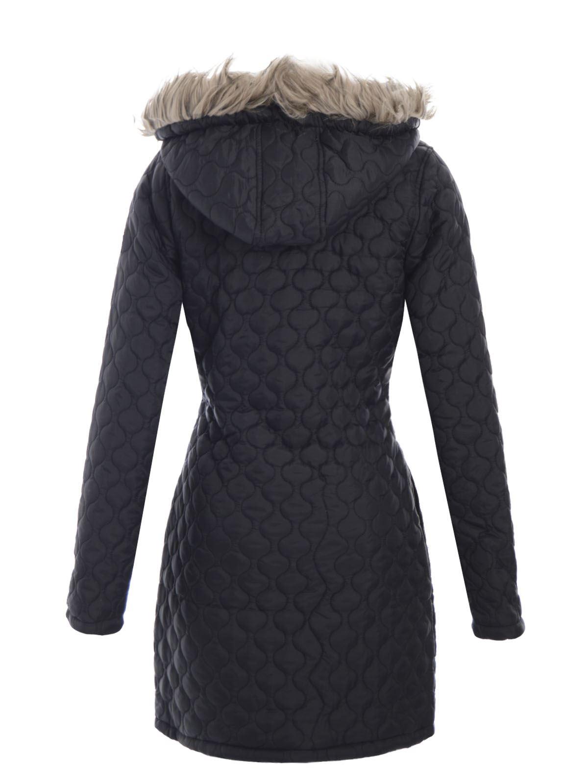 brave soul womens jacket quilted fur hooded coat ladies. Black Bedroom Furniture Sets. Home Design Ideas