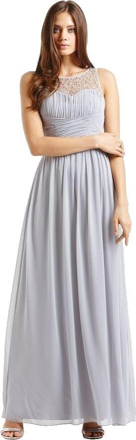 Little Mistress Embellished Detail Maxi Dress - Nude, Navy - UK 8, 10, 12, 14