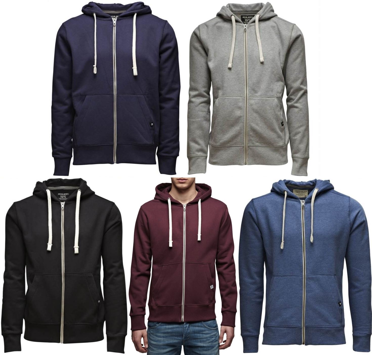 jack and jones zip hoodie