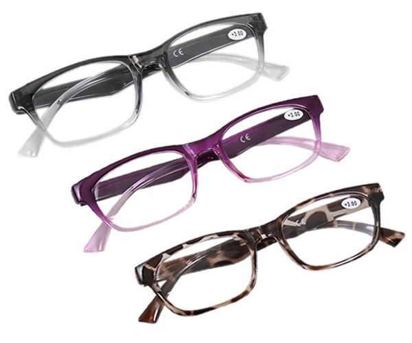 Large Frame Retro Reading Glasses : Large Frame Retro Fashion Designer Plastic Frame Reading ...