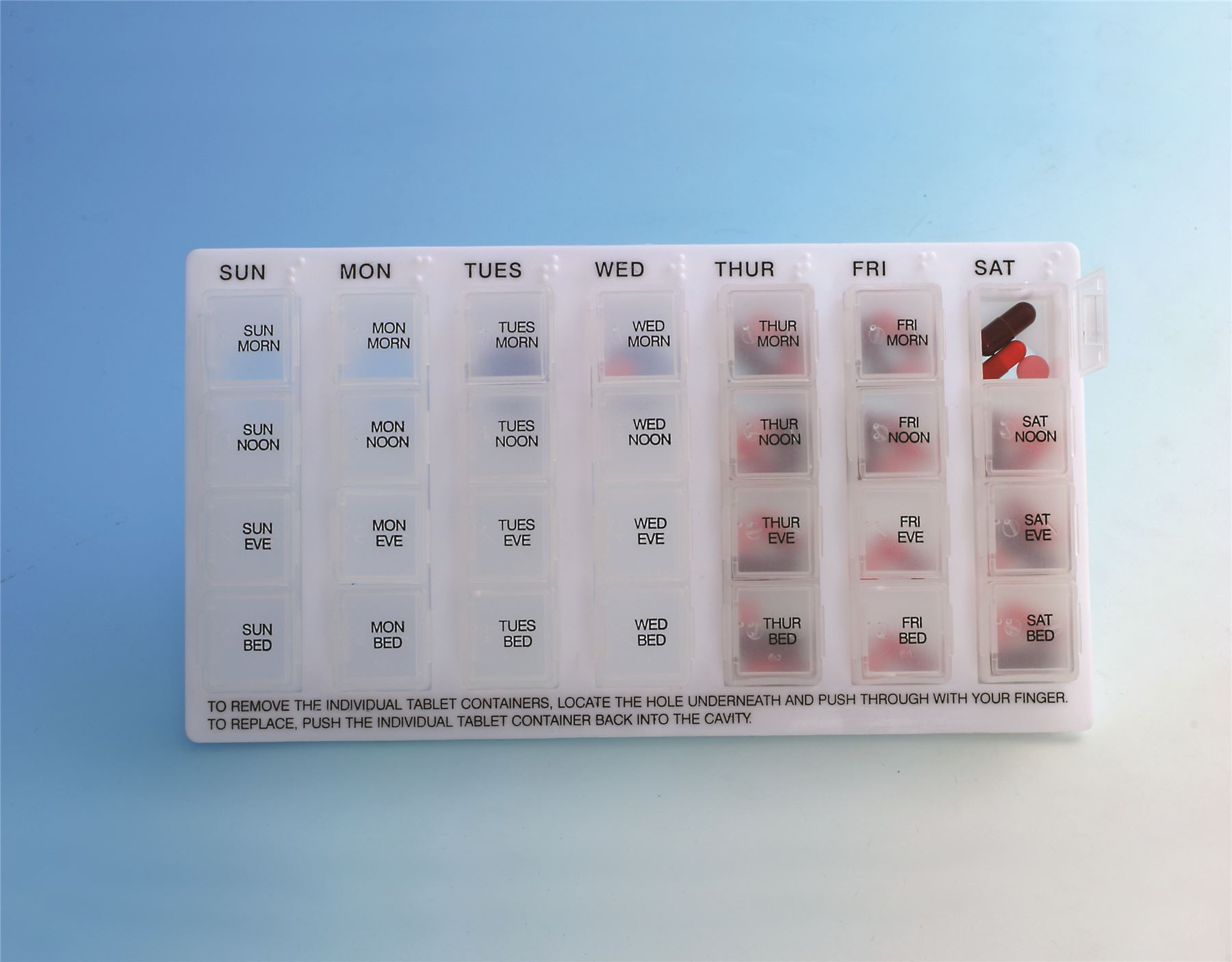 Pill Dispenser 4 Daily Dose Weekly Pill Tablet Dispenser