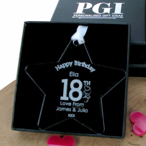 Engraved 18th Birthday Ideas Male Female Gift Box 18th