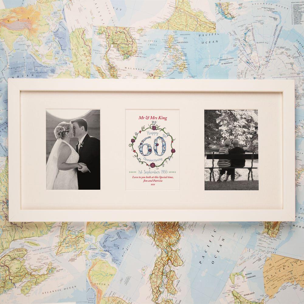Diamond Wedding Anniversary Gifts For Grandparents: Personalised 60th Diamond Wedding Anniversary 3 Aperture