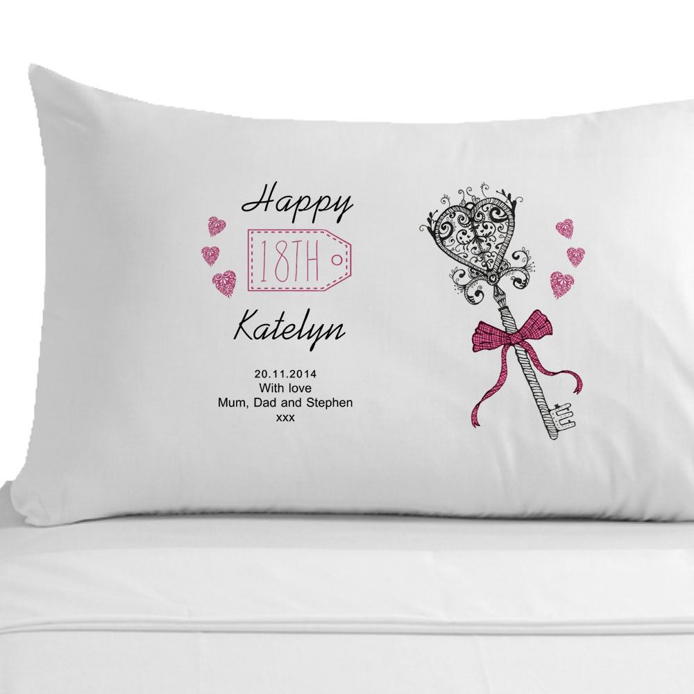 Personalised 18th Birthday Pillowcase Girls Girlfriend
