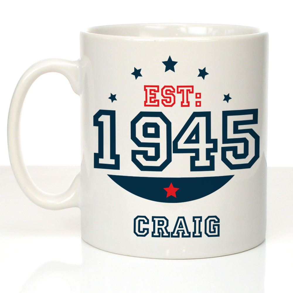 Personalised 70th Birthday Mug Gifts For Him Drinking Cup