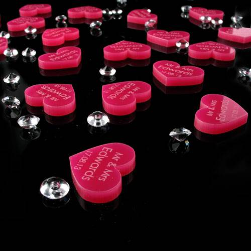 100 love heart table decorations various colours wedding for Heart decoration ideas