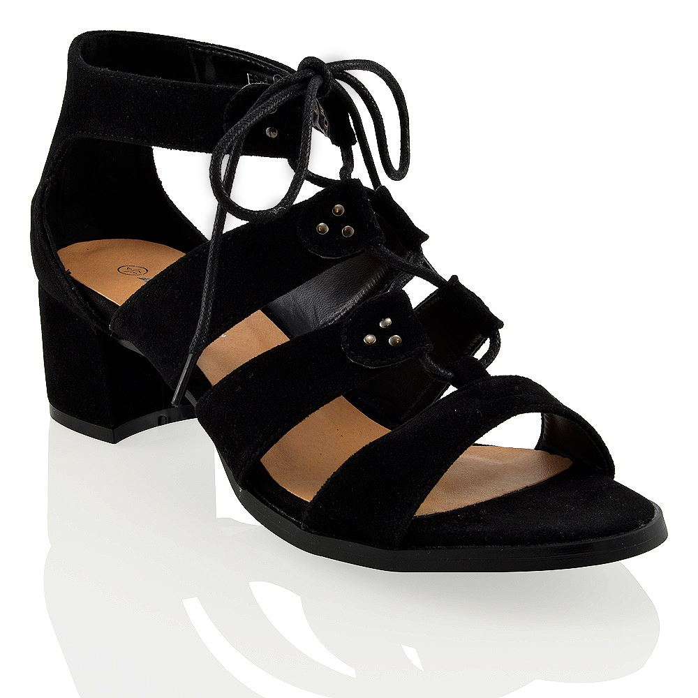 Black Chunky Lace Up Shoes