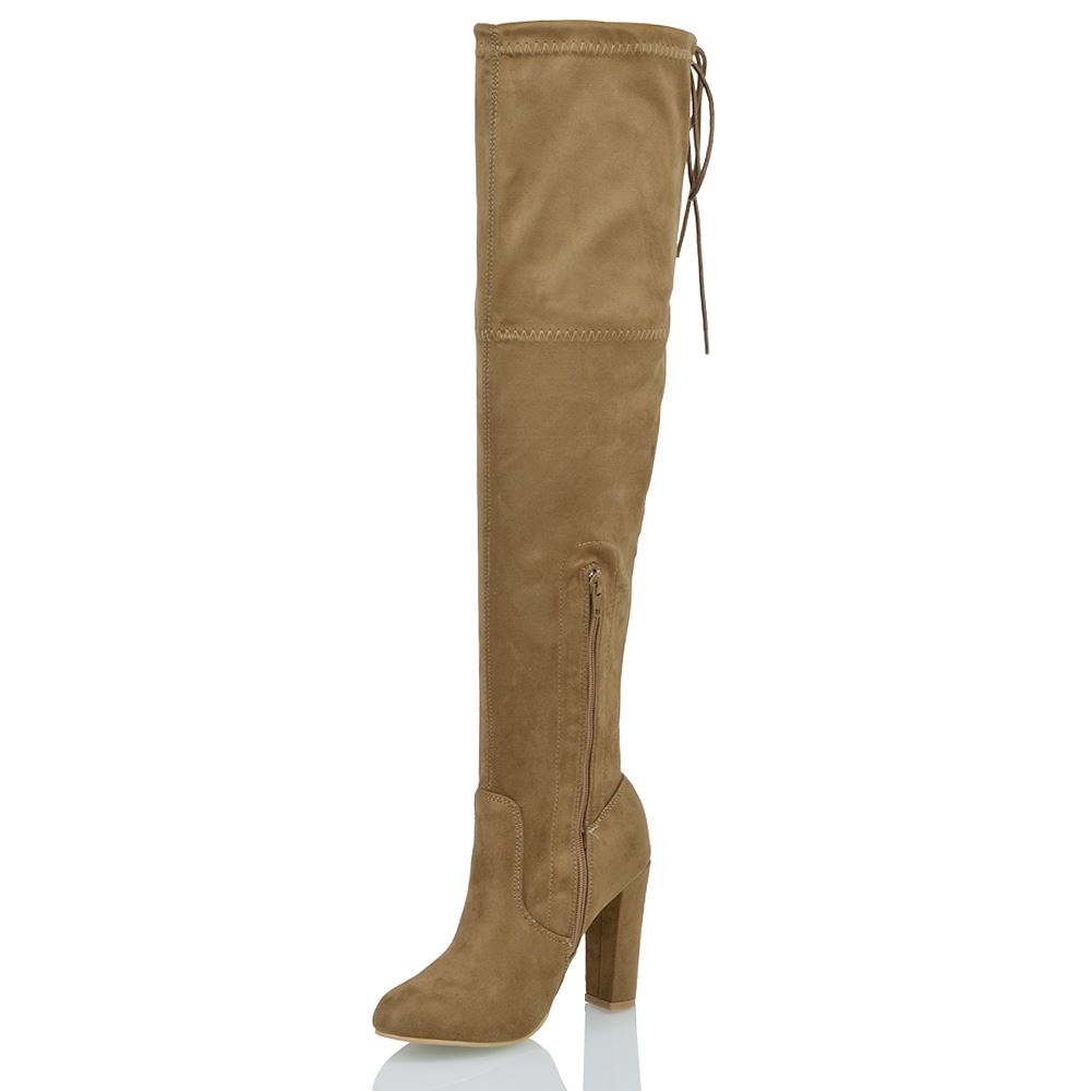 new womens thigh high boots the knee stretch