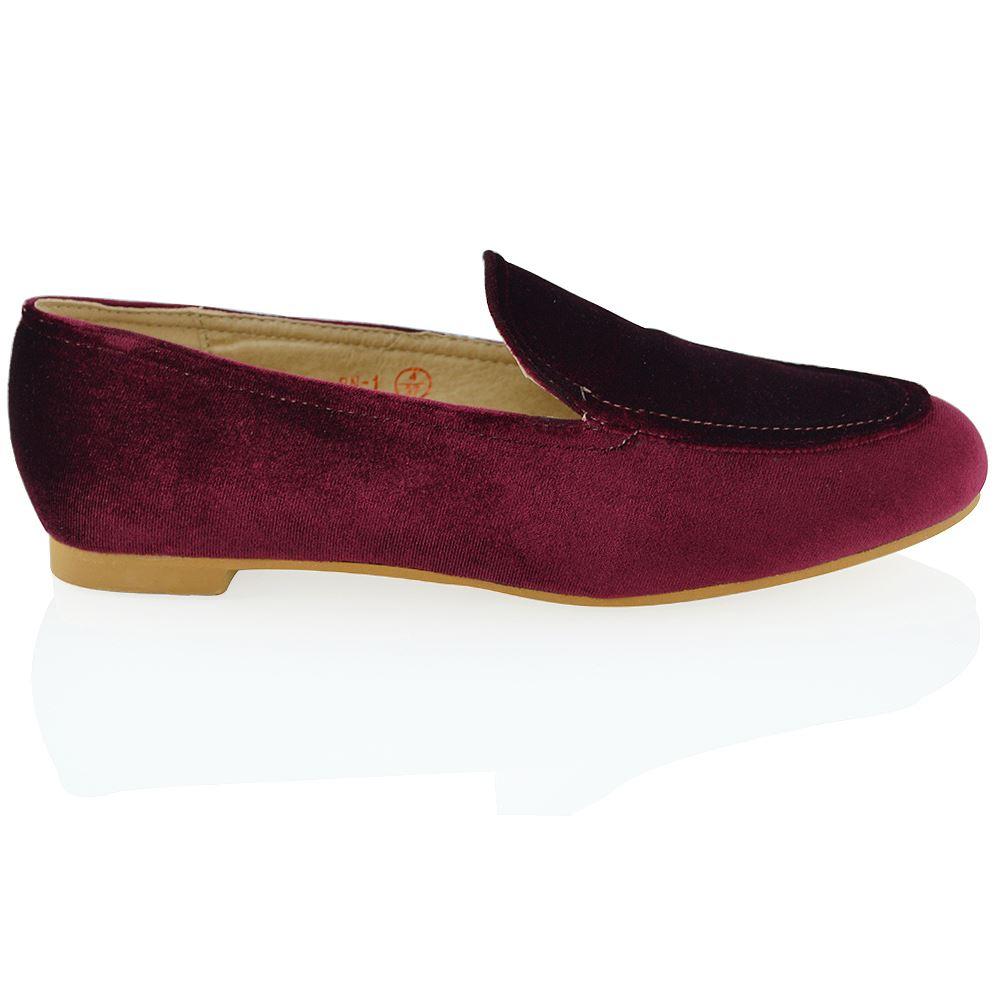 womens flat loafers velvet slip on pumps work
