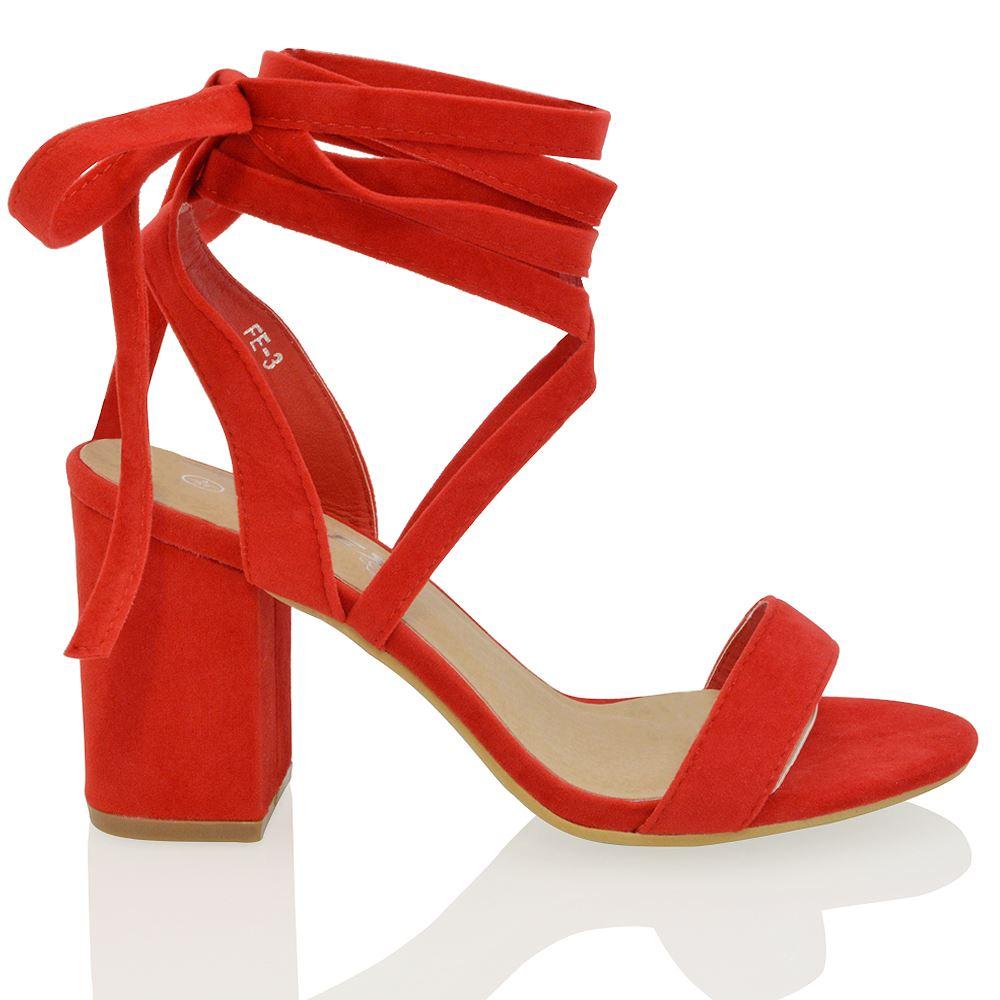 Wrap Block Heel Shoes