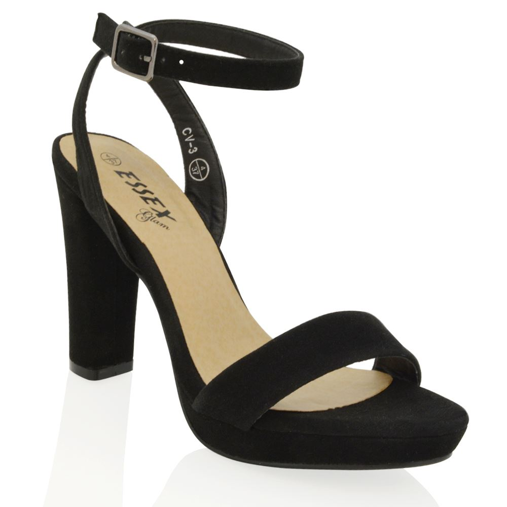 Wrap Platform Block Heel Shoes
