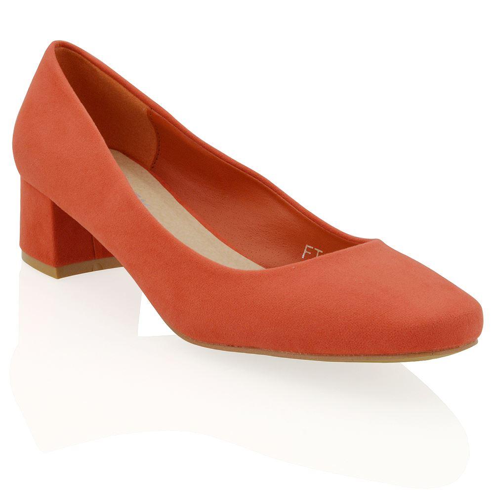 Mid Block Heel Court Shoes